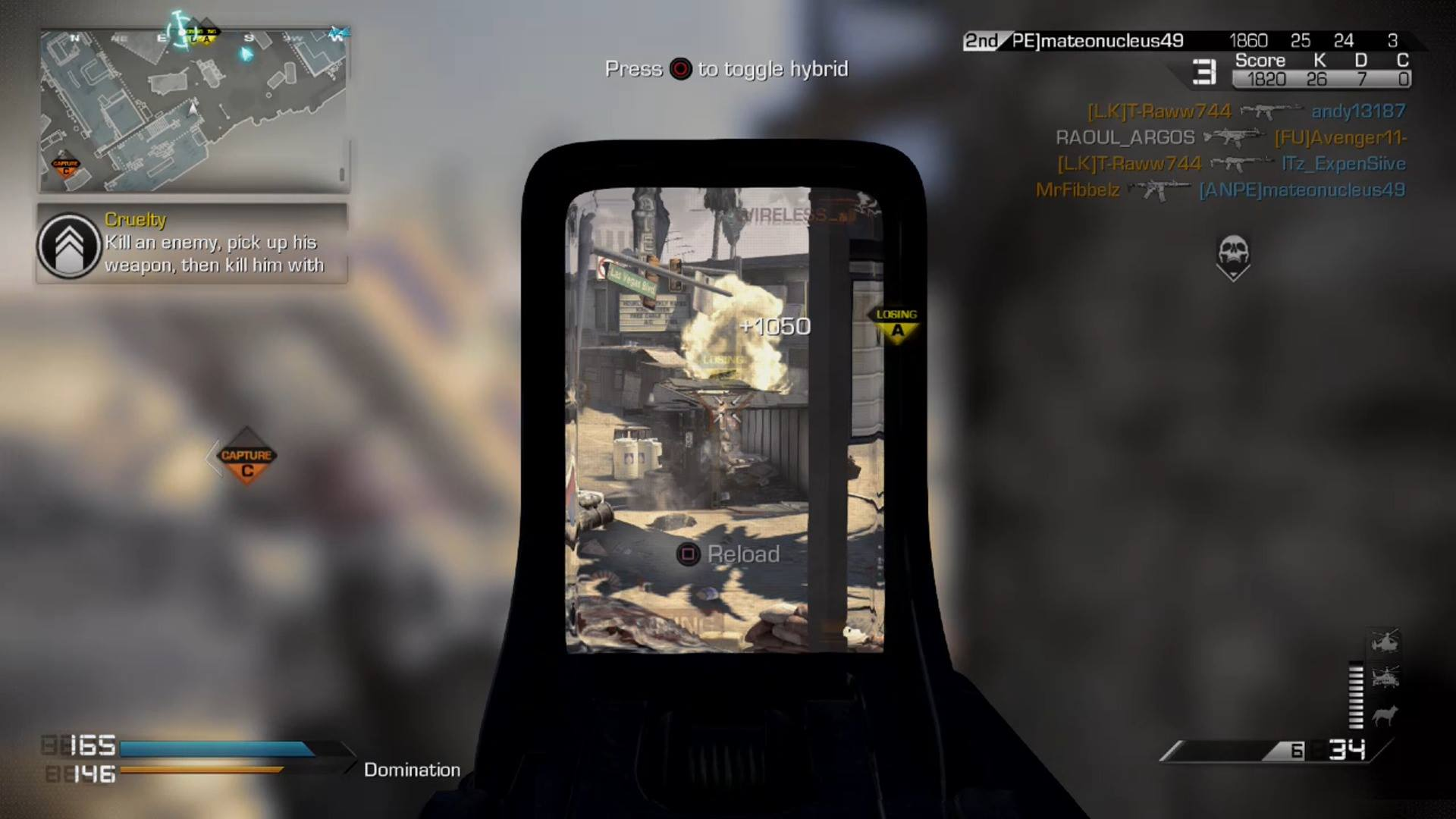 COD:Ghosts Domination @ Octane + how to share video gameplay